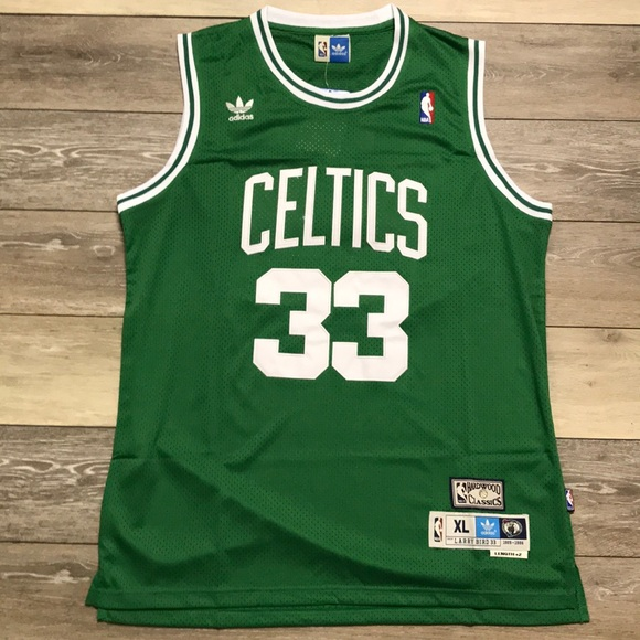 best website 05970 edeb2 Retro Larry Bird Boston Celtics Swingman Jersey XL NWT
